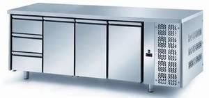 Kühltechnik: Kühltisch FGN9/22 -  GN 1/1 mit 3 Türen und 3 Schubladen