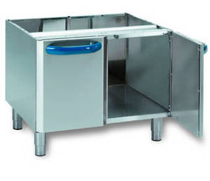 Edelstahlmöbel: Neutralelement / Unterbau VNP70L7 mit 2 Türen