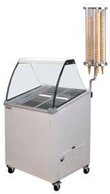 Kühltechnik: Speiseeisverkaufsvitrine mit stiller Kühlung