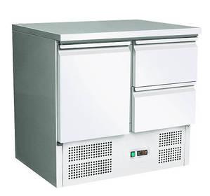 Kühltechnik: Kühltisch GSKT2020 mit 1 Tür und 2 Schubladen - GN 1/1
