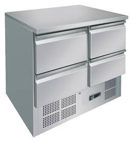 Kühltechnik: Kühltisch GSKT2040 mit 4 Schubladen - GN 1/1 - 903x700x875mm