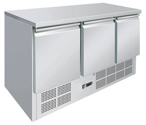 Kühltechnik: Kühltisch GSKT3000 mit 3 Türen - GN 1/1 - 1370x700x875mm