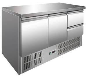 Kühltechnik: Kühltisch GSKT3020 mit 2 Türen und 2 Schubladen - GN 1/1