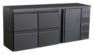 Kühltechnik: Barkühltisch 1 Tür, 4 Schubladen