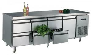 Kühltechnik: Gastro Kühltisch 1 Tür, 6 Schubladen