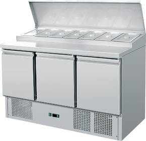 Kühltechnik: Gastro Saladette / Belegstation 3 Türen