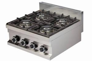 Kochgeräte: Gasherd 4 Flammen, Tischgerät
