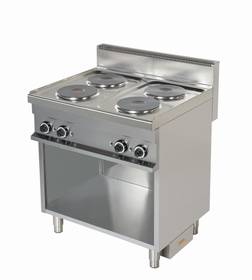 Kochgeräte: Elektro Herd mit 4 Kochplatten
