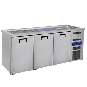 Kühltechnik: Biertheke 3 Türen, 1 Becken