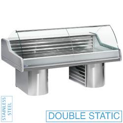 Kühltechnik: Kühltheke mit gebogenem Glas