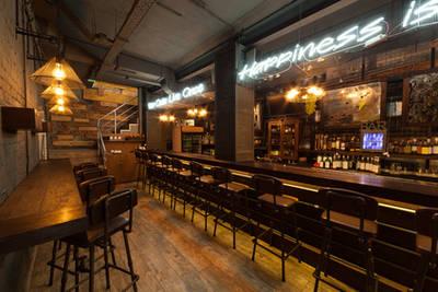 Theke in einer Bar